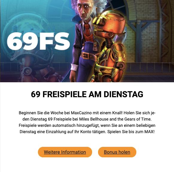 69 Freispiele